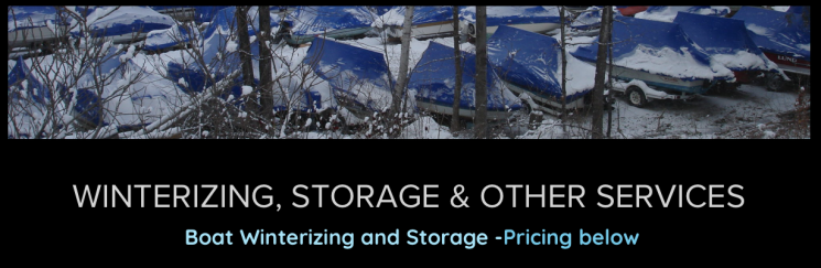 Winterizing, Storage & Other Services 2021 Pricing